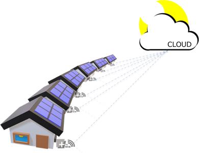 PV報知器、IoT遠隔診断のイメージ図