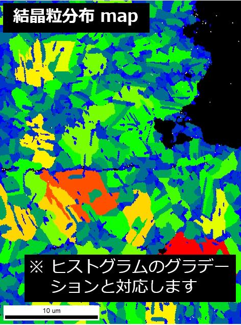 結晶粒分布 map