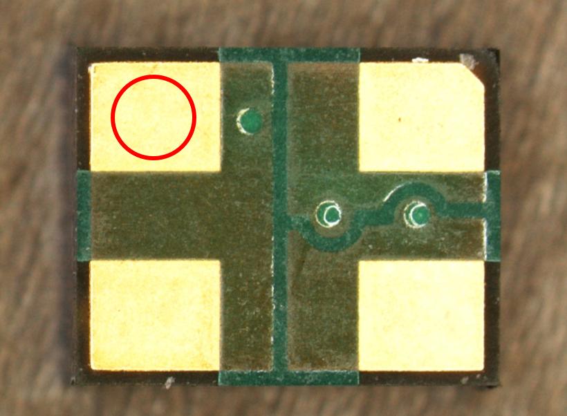 レーザー顕微鏡 観察例 金pad