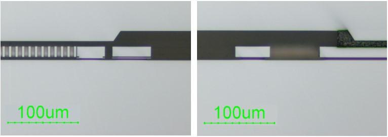 断面研磨 光学顕微鏡高倍像
