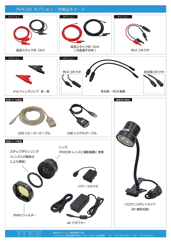 PVX330 オプション・付属品チャート