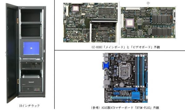 CZ-600Cメインボード及びビデオボード外観写真