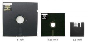 図1 フロッピー・ディスク サイズ一覧
