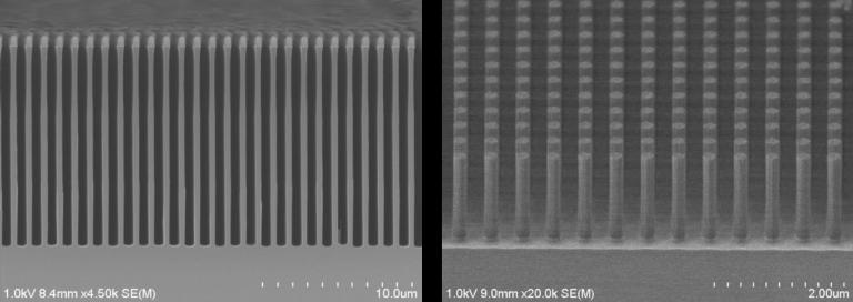 高アスペクト加工、微細パターン加工(シリコンエッチング、絶縁膜エッチング)