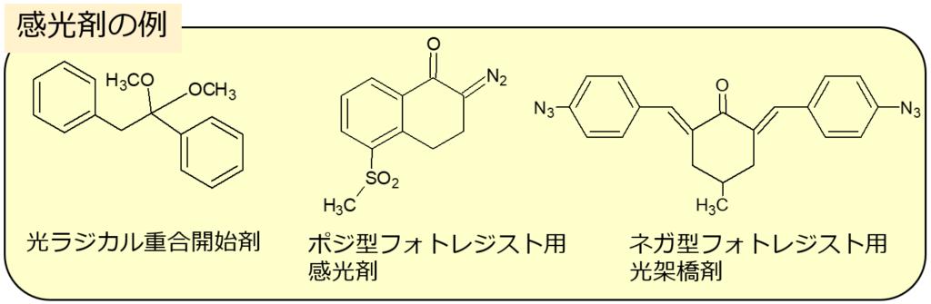 感光剤の例